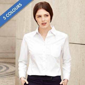 120g 55/45 CP Ladies Poplin Shirt Long Sleeve - SSHLPL