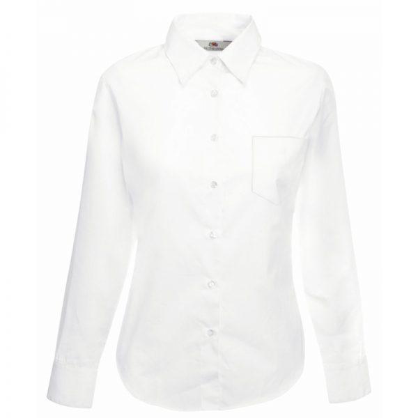 120g 55/45 CP Ladies Poplin Shirt Long Sleeve - SSHLPL-white