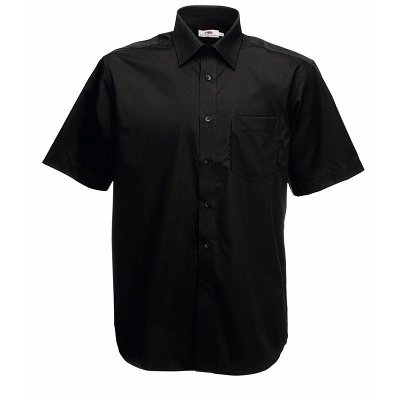 120g 55/45 CP Poplin Shirt Short Sleeve - SSHSPA-black