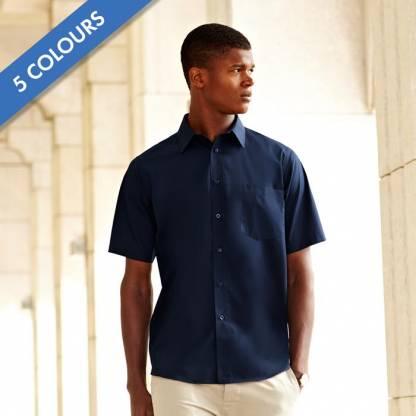 120g 55/45 CP Poplin Shirt Short Sleeve - SSHSPA