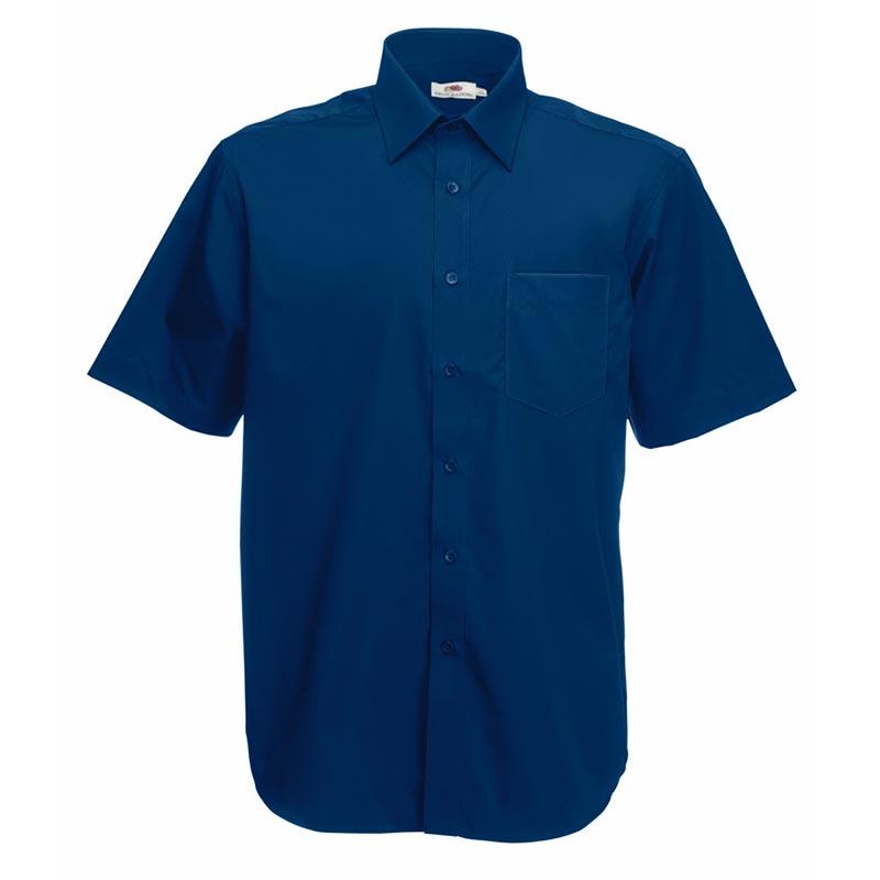 120g 55/45 CP Poplin Shirt Short Sleeve - SSHSPA-navy