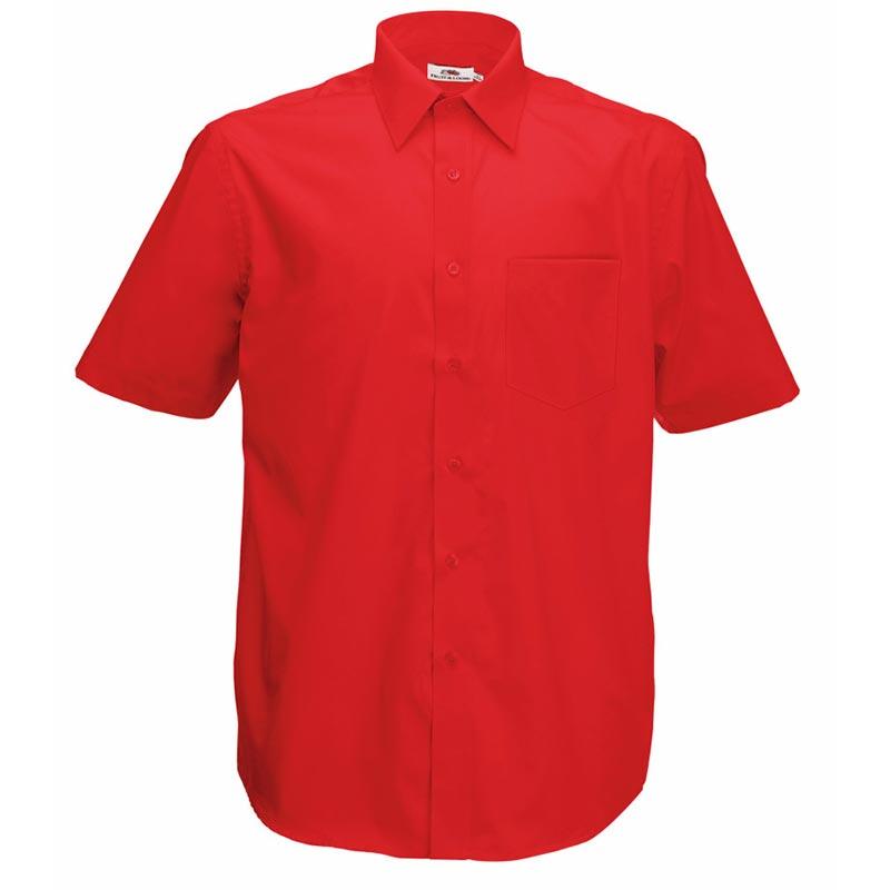 120g 55/45 CP Poplin Shirt Short Sleeve - SSHSPA-red