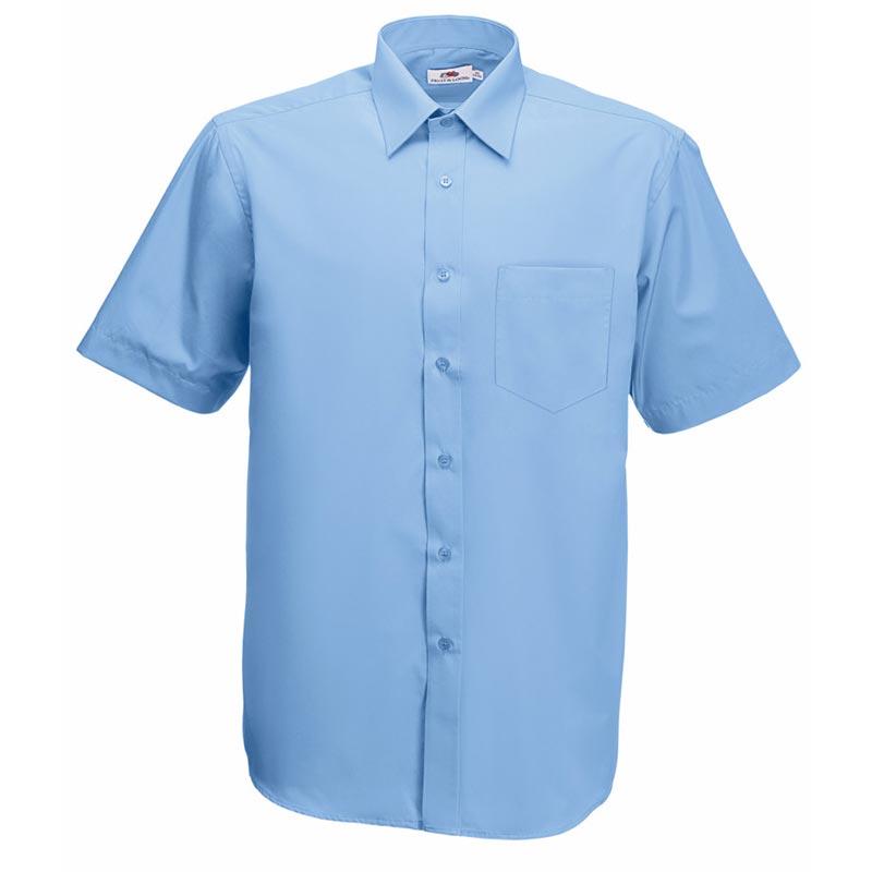 120g 55/45 CP Poplin Shirt Short Sleeve - SSHSPA-sky
