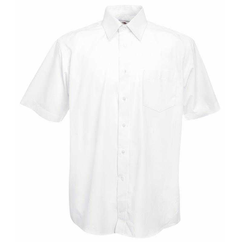 120g 55/45 CP Poplin Shirt Short Sleeve - SSHSPA-white