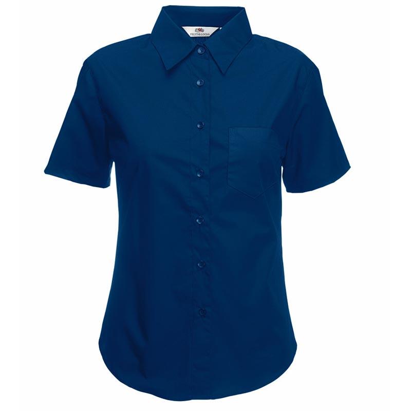 120g 55/45 CP Ladies Poplin Shirt Short Sleeve - SSHSPL-navy