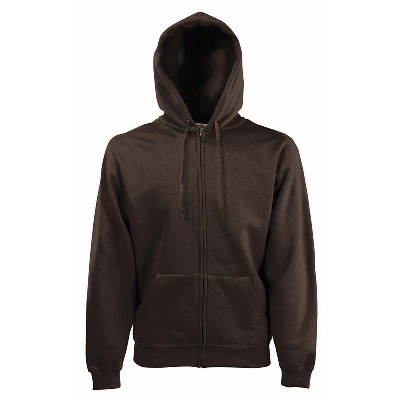 280g 70/30 CP Hooded Sweat Premium Jacket - SSHZA-chocolate