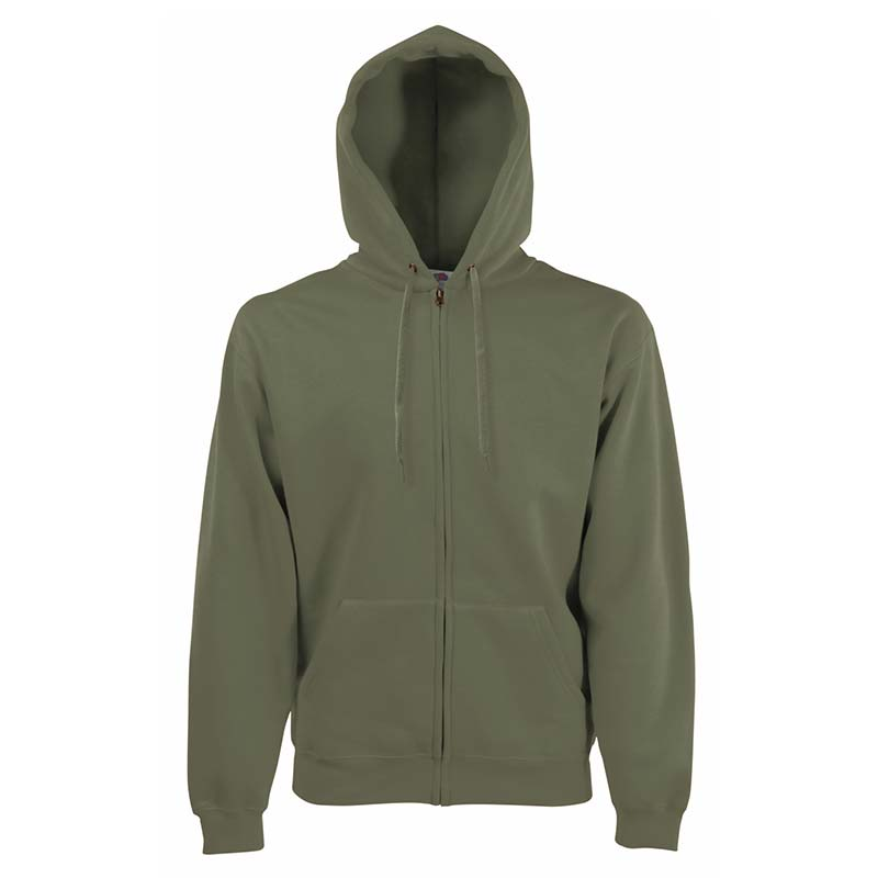 280g 70/30 CP Hooded Sweat Premium Jacket - SSHZA-classic-olive