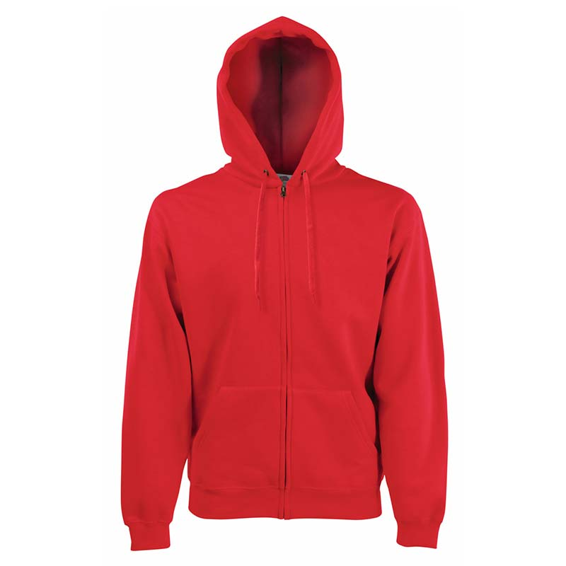 280g 70/30 CP Hooded Sweat Premium Jacket - SSHZA-red