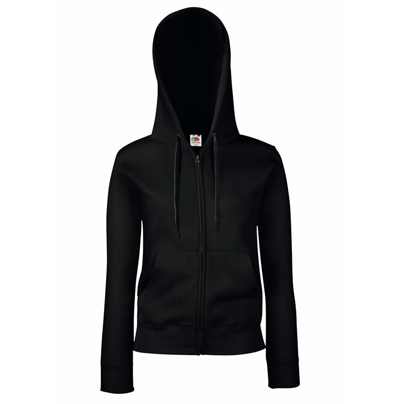 280g Ladies 70/30 CP Lady-Fit Hooded Sweat Premium Jacket - SSHZL-black