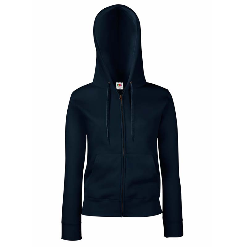 280g Ladies 70/30 CP Lady-Fit Hooded Sweat Premium Jacket - SSHZL-dark-navy