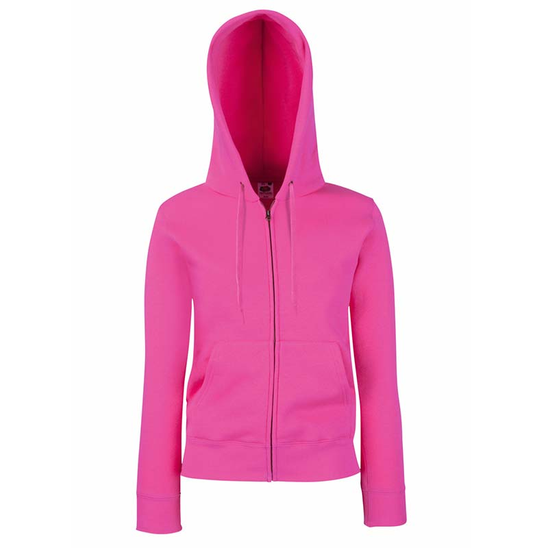 280g Ladies 70/30 CP Lady-Fit Hooded Sweat Premium Jacket - SSHZL-fuchsia