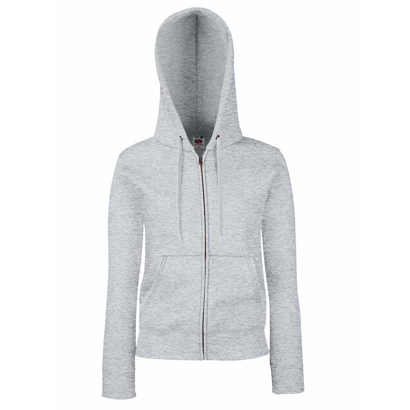 280g Ladies 70/30 CP Lady-Fit Hooded Sweat Premium Jacket - SSHZL-heather