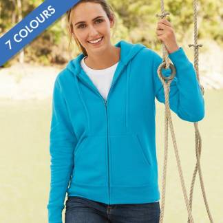 280g Ladies 70/30 CP Lady-Fit Hooded Sweat Premium Jacket - SSHZL