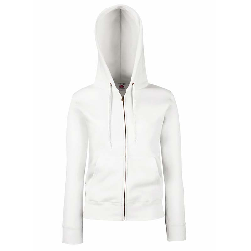 280g Ladies 70/30 CP Lady-Fit Hooded Sweat Premium Jacket - SSHZL-white