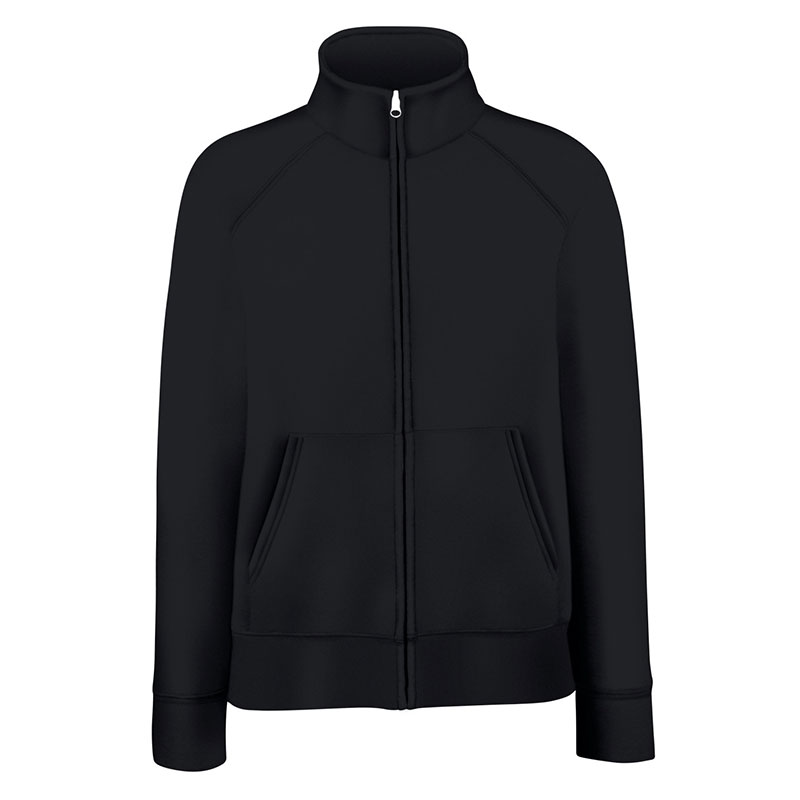 280g 70/30 CP Lady-Fit Premium Sweat Jacket - SSZL-black