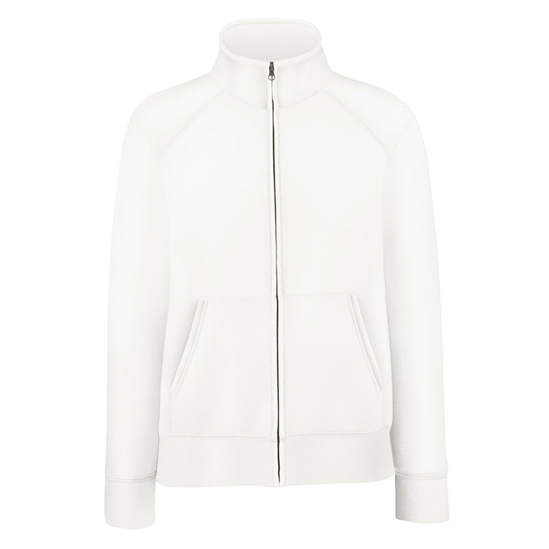 280g 70/30 CP Lady-Fit Premium Sweat Jacket - SSZL-white