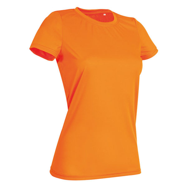 140gsm 100% ACTIVE-DRY polyester Ladies ACTIVE Sports T (Smooth, Body-Fit) Short Sleeve - ST8100-cyber-orange