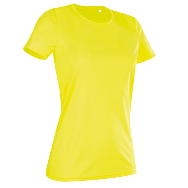 140gsm 100% ACTIVE-DRY polyester Ladies ACTIVE Sports T (Smooth, Body-Fit) Short Sleeve - ST8100-cyber-yellow