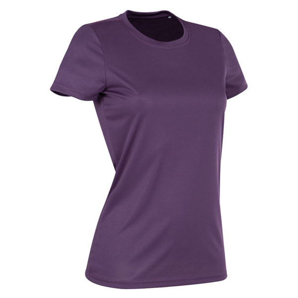 140gsm 100% ACTIVE-DRY polyester Ladies ACTIVE Sports T (Smooth, Body-Fit) Short Sleeve - ST8100-deep-berry