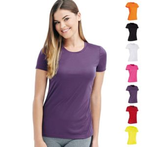 140gsm 100% ACTIVE-DRY polyester Ladies ACTIVE Sports T (Smooth, Body-Fit) Short Sleeve - ST8100