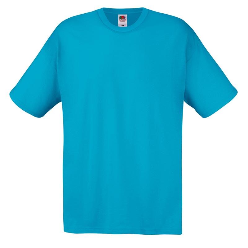 145gsm 100% Cotton Full Cut Original T Shirt Short Sleeve - STFA-azure-blue