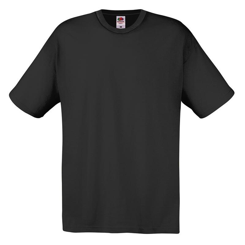 145gsm 100% Cotton Full Cut Original T Shirt Short Sleeve - STFA-black