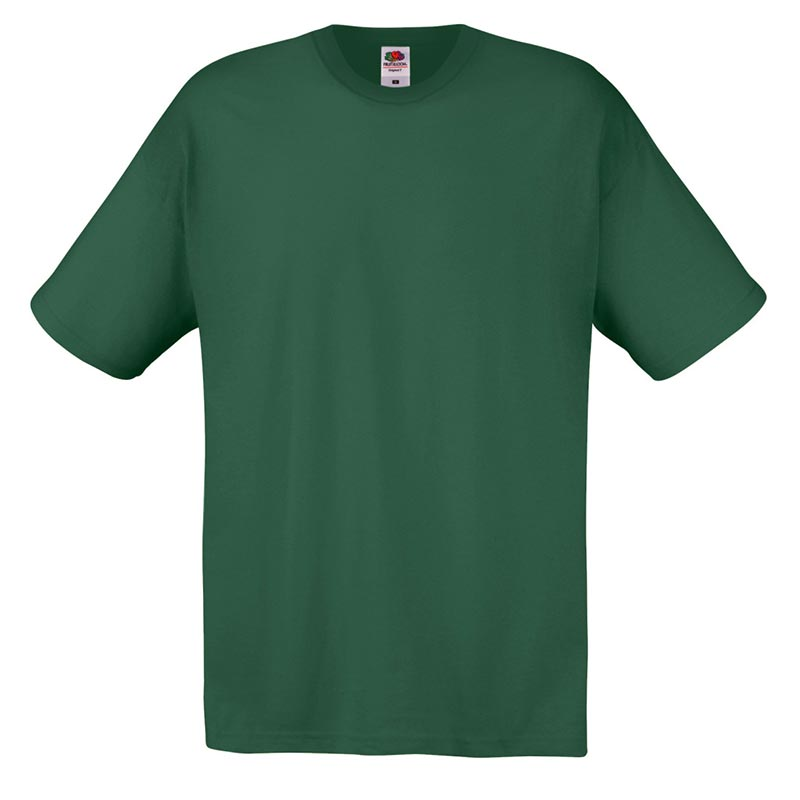 145gsm 100% Cotton Full Cut Original T Shirt Short Sleeve - STFA-bottle-green