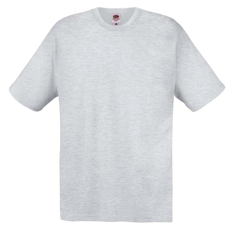 145gsm 100% Cotton Full Cut Original T Shirt Short Sleeve - STFA-heather-grey