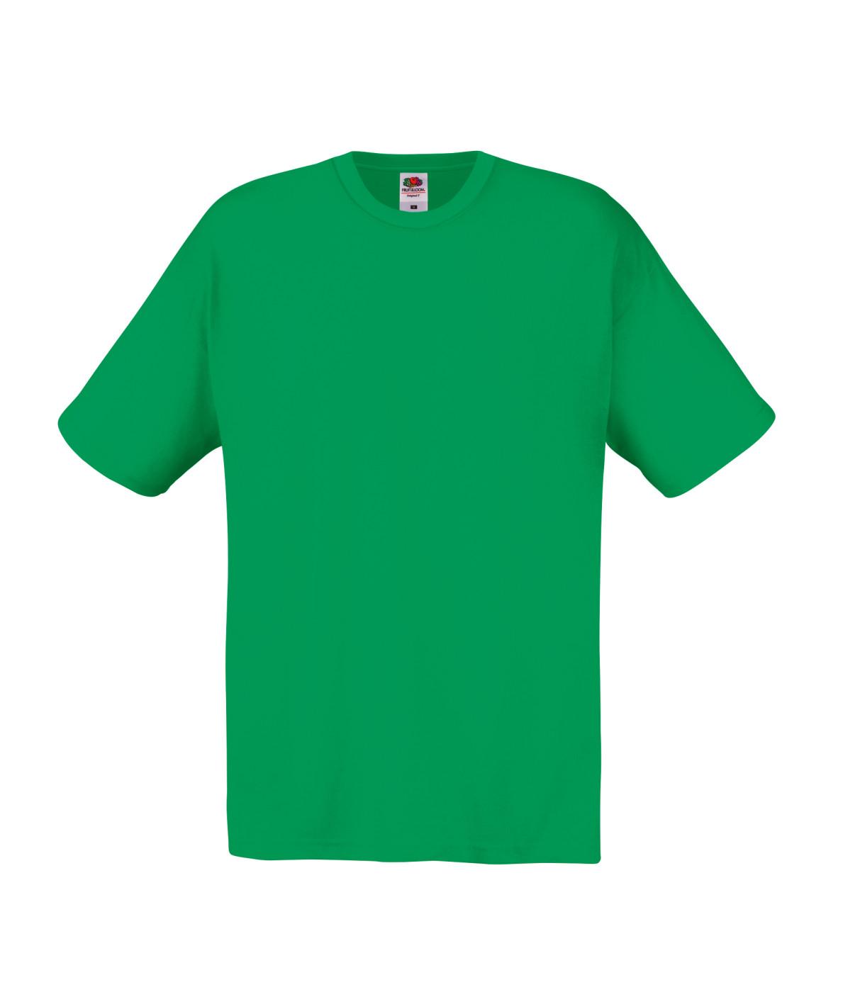 145gsm 100% Cotton Full Cut Original T Shirt Short Sleeve - STFA-kelly-green