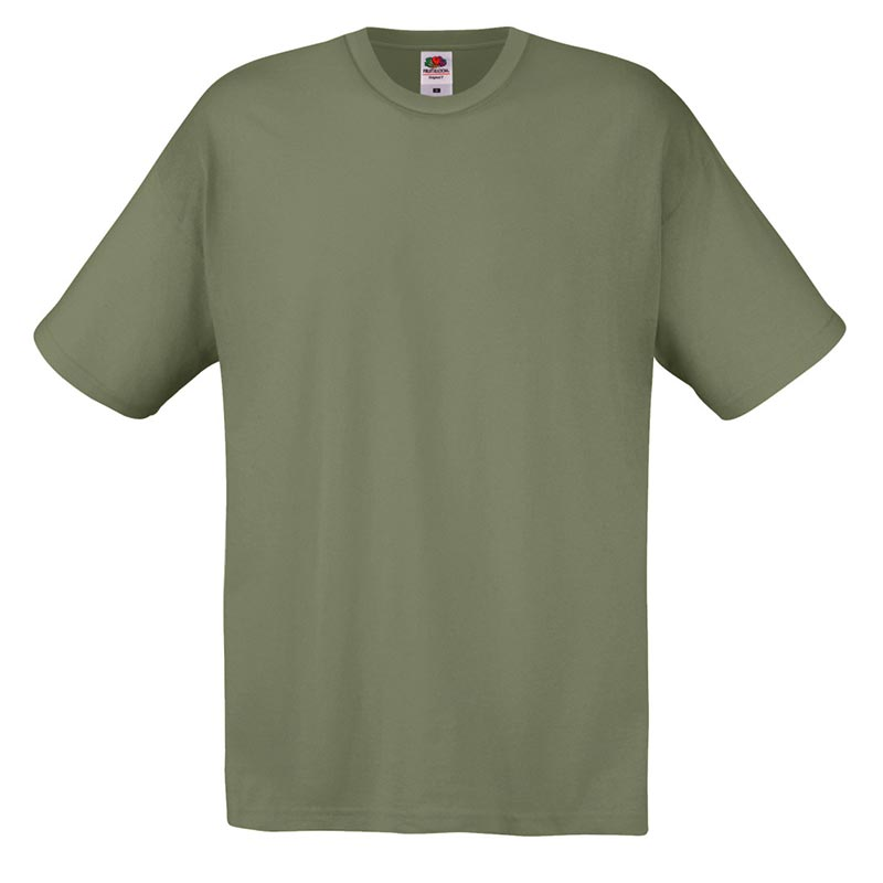 145gsm 100% Cotton Full Cut Original T Shirt Short Sleeve - STFA-olive