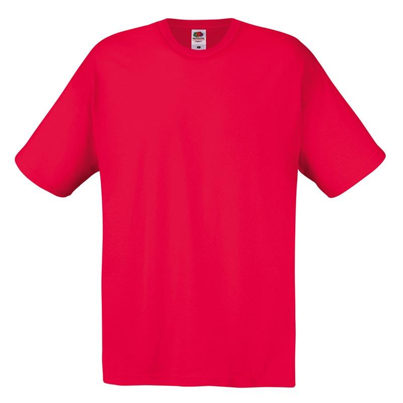 145gsm 100% Cotton Full Cut Original T Shirt Short Sleeve - STFA-red