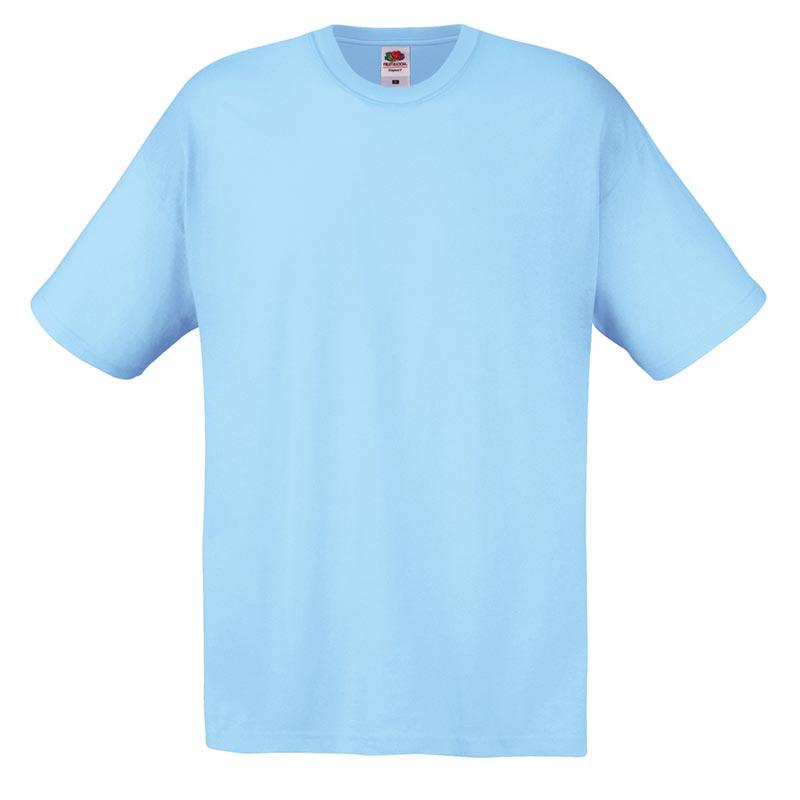 145gsm 100% Cotton Full Cut Original T Shirt Short Sleeve - STFA-sky-blue