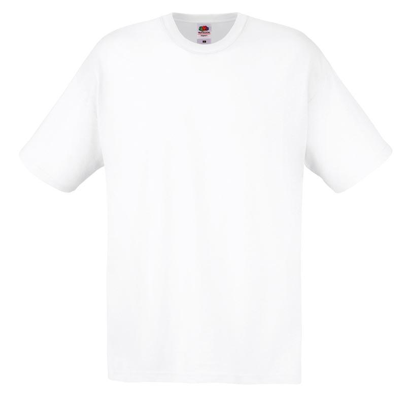 145gsm 100% Cotton Full Cut Original T Shirt Short Sleeve - STFA-white