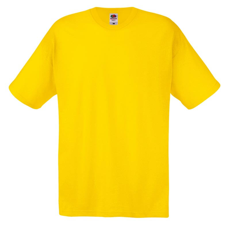145gsm 100% Cotton Full Cut Original T Shirt Short Sleeve - STFA-yellow
