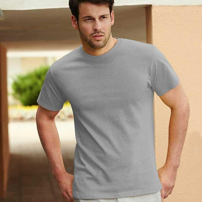 195gsm 100% Cotton, Belcoro® Yarn Heavy T Short Sleeve - STHA-heather-grey