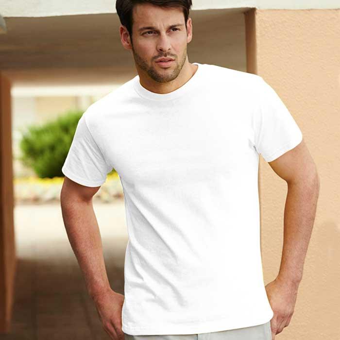 195gsm 100% Cotton, Belcoro® Yarn Heavy T Short Sleeve - STHA-white
