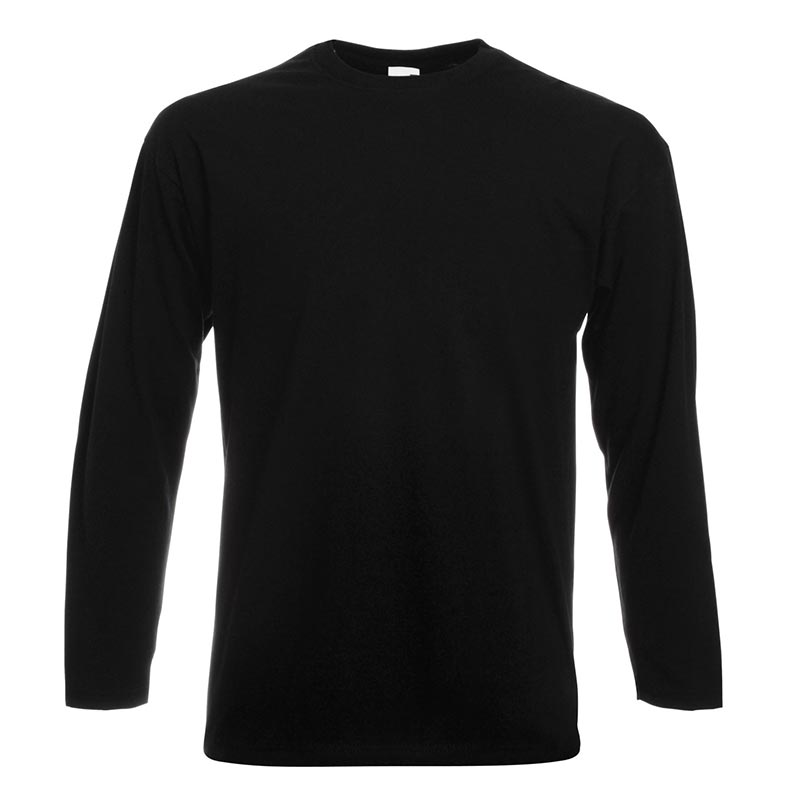 165gsm 100% Cotton, Belcoro® Yarn Valueweight Long Sleeve T - STLA-black