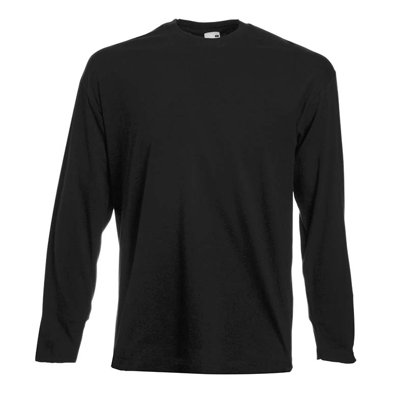 165gsm 100% Cotton, Belcoro® Yarn Valueweight Long Sleeve T - STLA-dark-heather