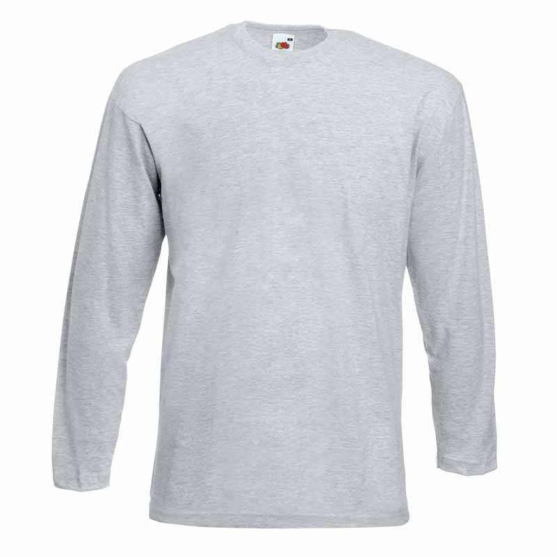 165gsm 100% Cotton, Belcoro® Yarn Valueweight Long Sleeve T - STLA-heather-grey