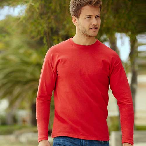 165gsm 100% Cotton, Belcoro® Yarn Valueweight Long Sleeve T - STLA-main