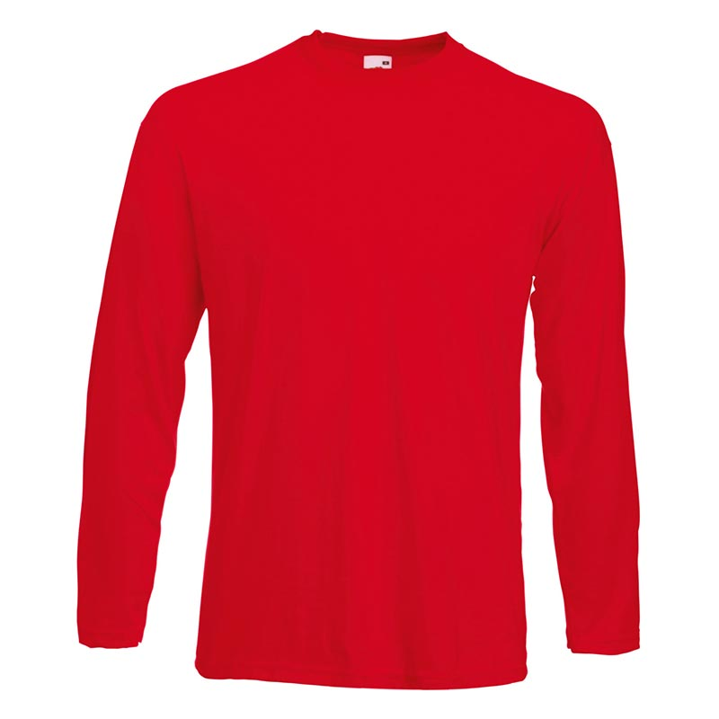 165gsm 100% Cotton, Belcoro® Yarn Valueweight Long Sleeve T - STLA-red