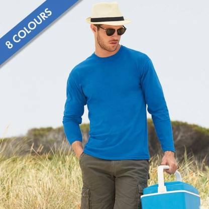 165gsm 100% Cotton, Belcoro® Yarn Valueweight Long Sleeve T - STLA