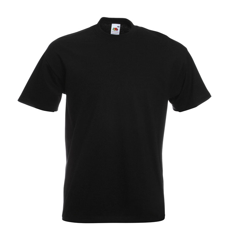 205gsm 100% Cotton, Belcoro® yarn Super Premium T Short Sleeve - STPA-black