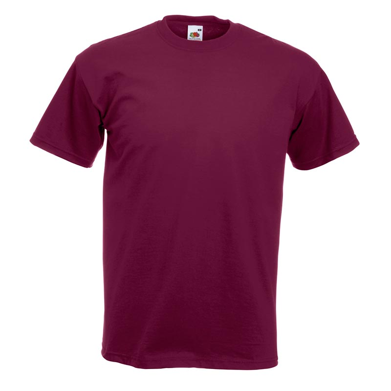 205gsm 100% Cotton, Belcoro® yarn Super Premium T Short Sleeve - STPA-burgundy