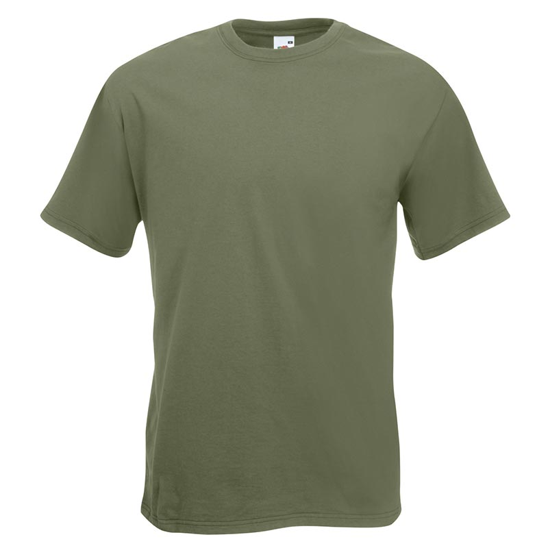205gsm 100% Cotton, Belcoro® yarn Super Premium T Short Sleeve - STPA-classic-olive