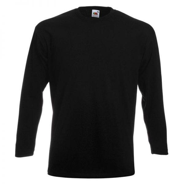205g 100% Cotton, Belcoro® Yarn Super Premium Long Sleeve T - STPLA-black