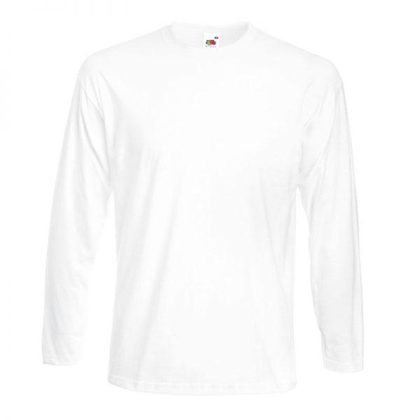 205g 100% Cotton, Belcoro® Yarn Super Premium Long Sleeve T - STPLA-white