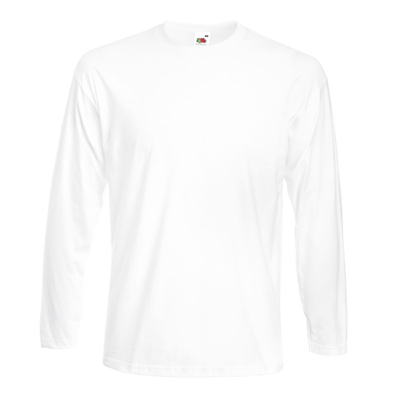 205g 100% Cotton, Belcoro® Yarn Super Premium Long Sleeve T - STPLA-white
