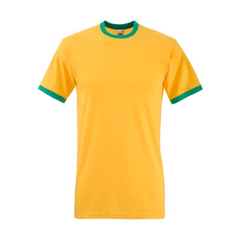 165gsm 100% Cotton, Belcoro® Yarn Ringer T Short Sleeve - STRA-sunflower-kelly