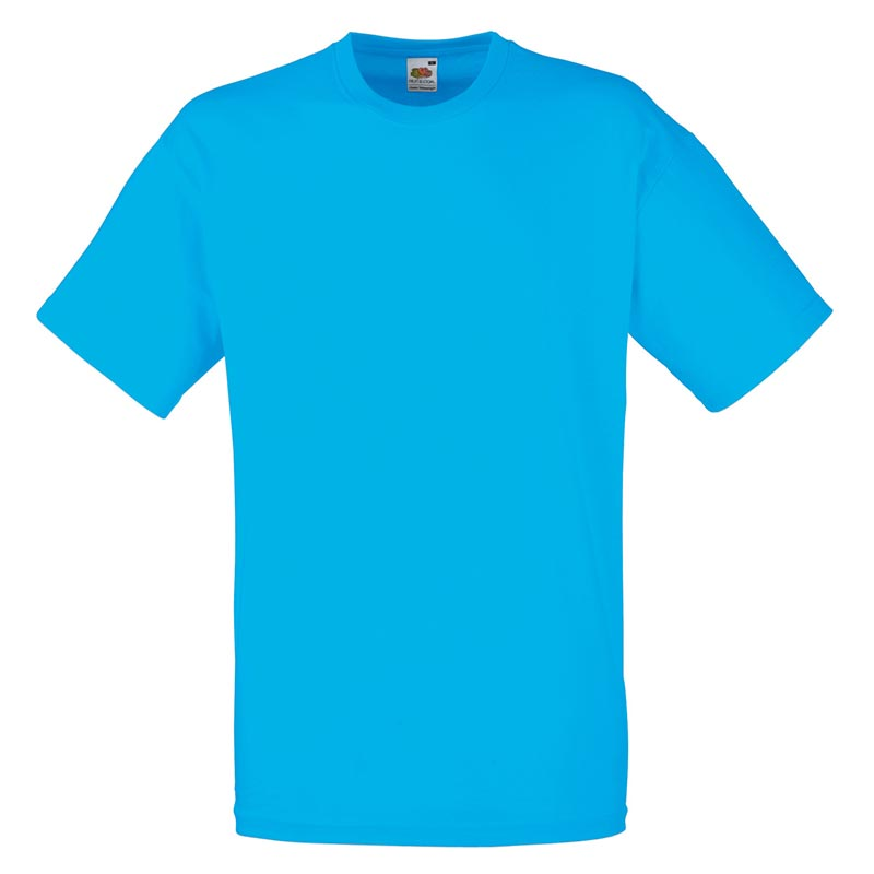 165gsm 100% Cotton, Belcoro® Yarn Valueweight T Short Sleeve - STVA-azure-blue